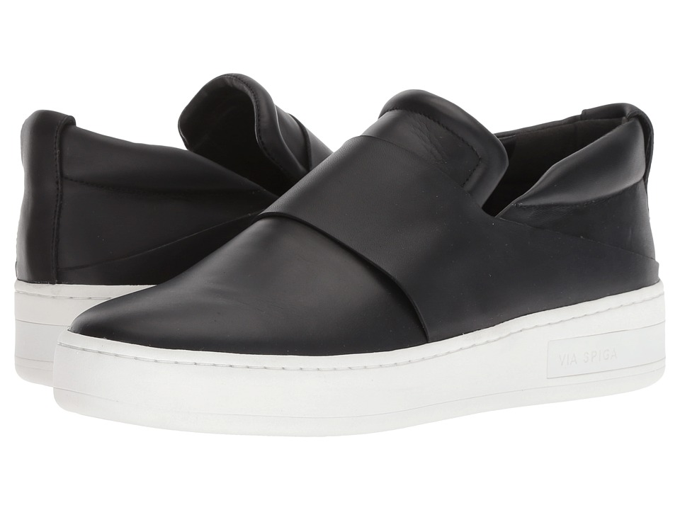 Via Spiga Ryder (Black Leather) Women's Shoes