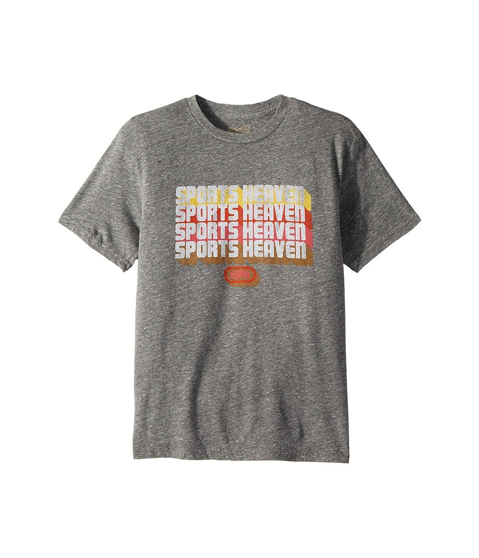 The Original Retro Brand Kids - Espn Sports Heaven Short Sleeve Tri-Blend Tee (Big Kids) (Streaky Grey) Boys Clothing