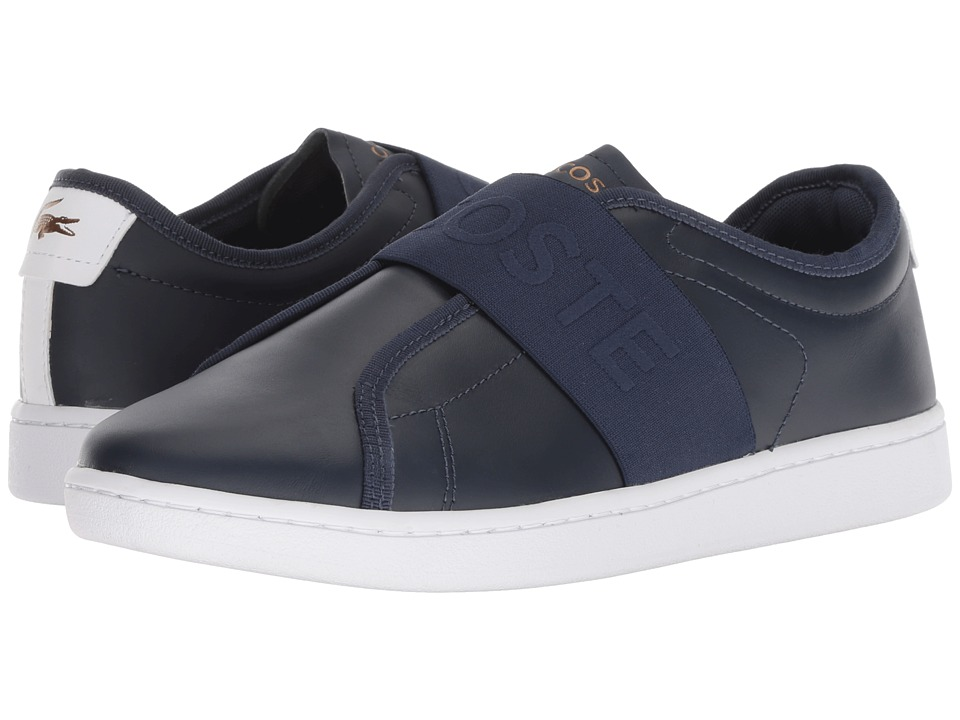 Lacoste Carnaby Evo Slip 318 1 (Navy/White) Women's Shoes