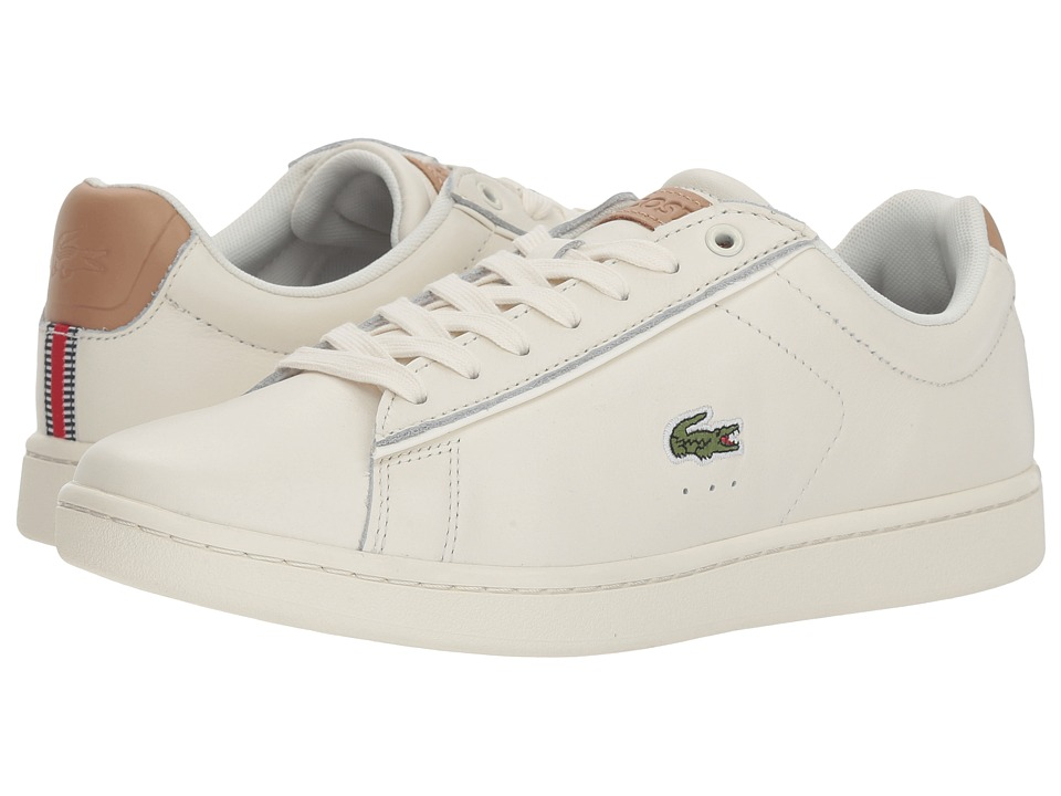 Lacoste - Carnaby Evo 218 1 (Off-White/Off-White) Womens Shoes