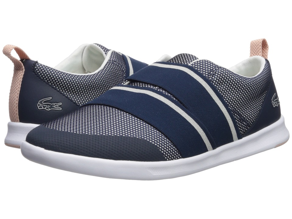 Lacoste - Avenir Slip 218 1 (Navy/Off-White) Womens Shoes