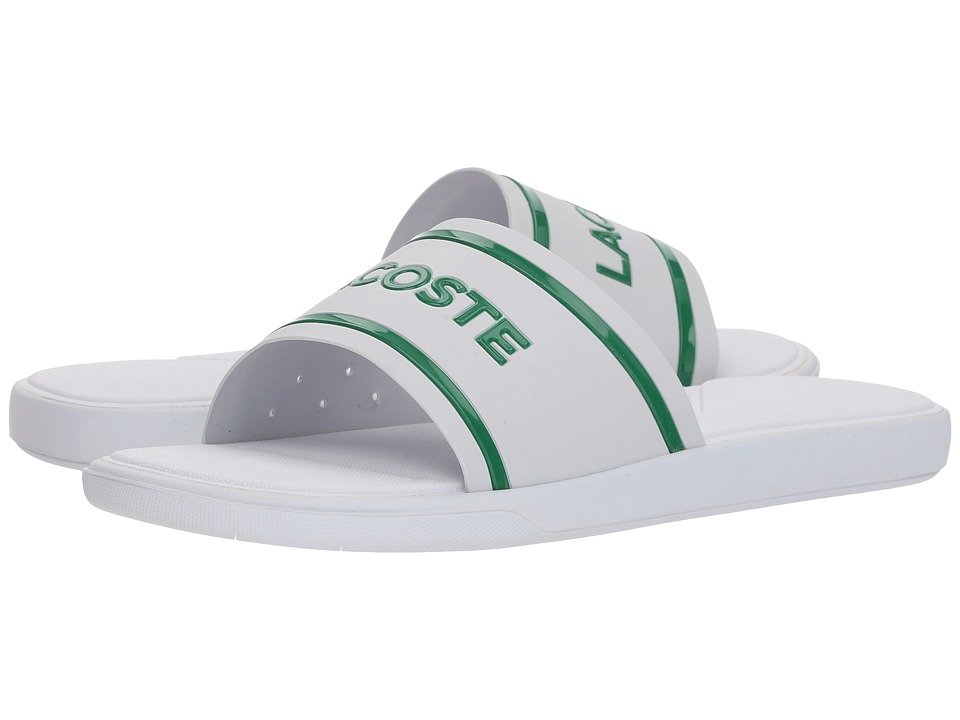 Lacoste - L.30 Slide 218 1 (White/Green) Womens Shoes
