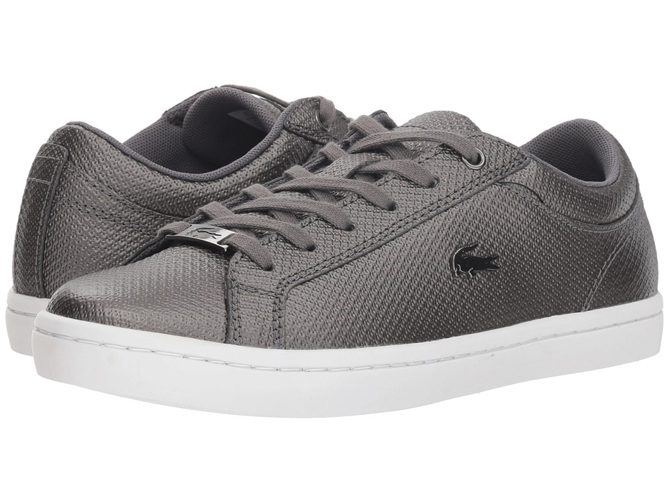 Lacoste Straightset 318 2 (Black/White) Women's Shoes