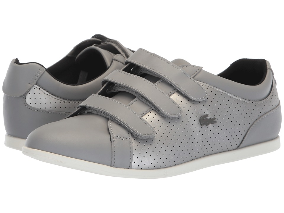 Lacoste Rey Strap 318 2 (Grey/Off-White) Women's Shoes