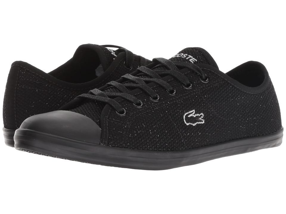 Lacoste Ziane Sneaker 318 4 (Black/Black) Women's Shoes