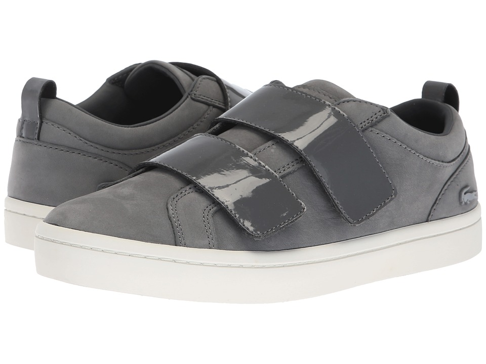 Lacoste Straightset Strap 318 1 (Dark Grey/Off-White) Women's Shoes