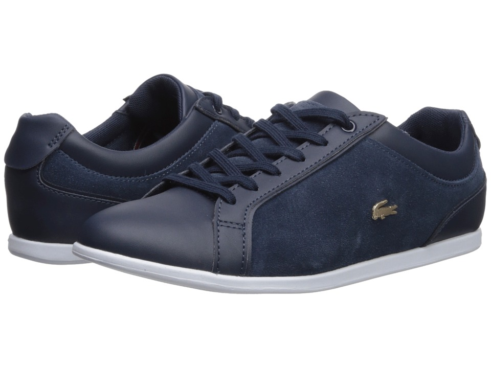 Lacoste Rey Lace 218 1 (Navy/White) Women's Shoes