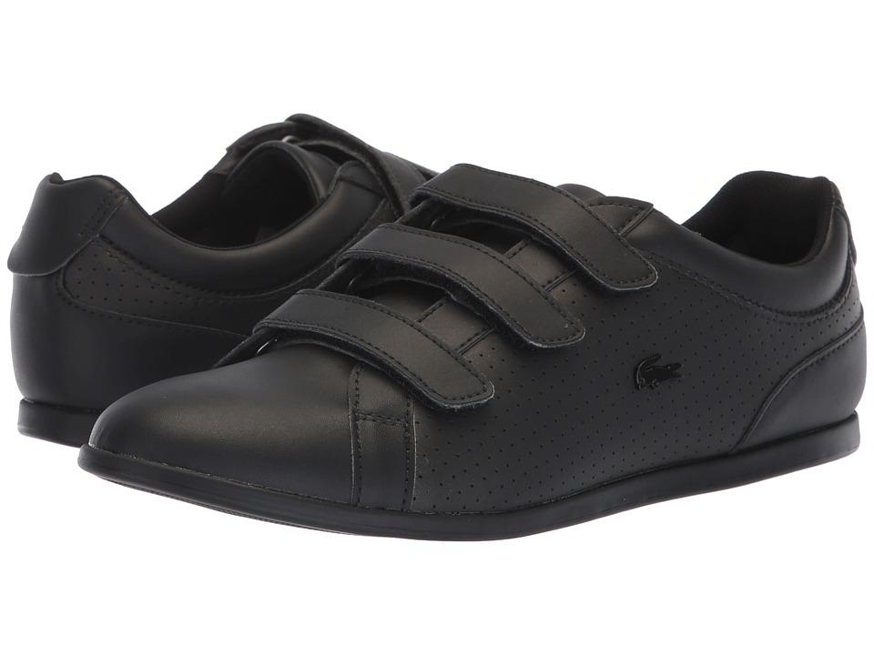 Lacoste Rey Strap 318 2 (Black/Black) Women's Shoes
