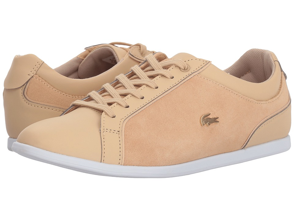 Lacoste - Rey Lace 218 1 (Natural/White) Womens Shoes