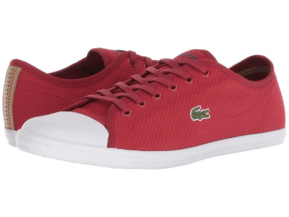 Lacoste Ziane Sneaker 318 2 (Red/White) Women's Shoes