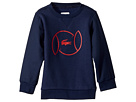 Lacoste Kids Croc Logo Sweatshirt (Little Kids/Big Kids)