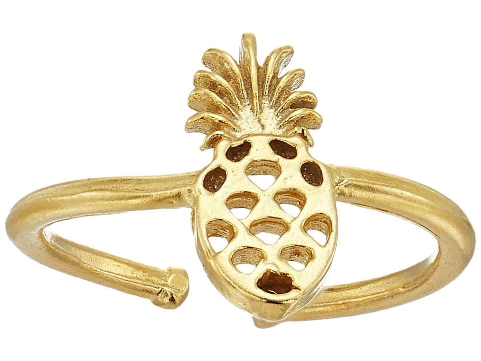 Alex and Ani - Pineapple Adjustable Ring (14KT Gold Plated) Ring