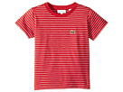 Lacoste Kids Short Sleeve Striped Tee Shirt (Toddler/Little Kids/Big Kids)