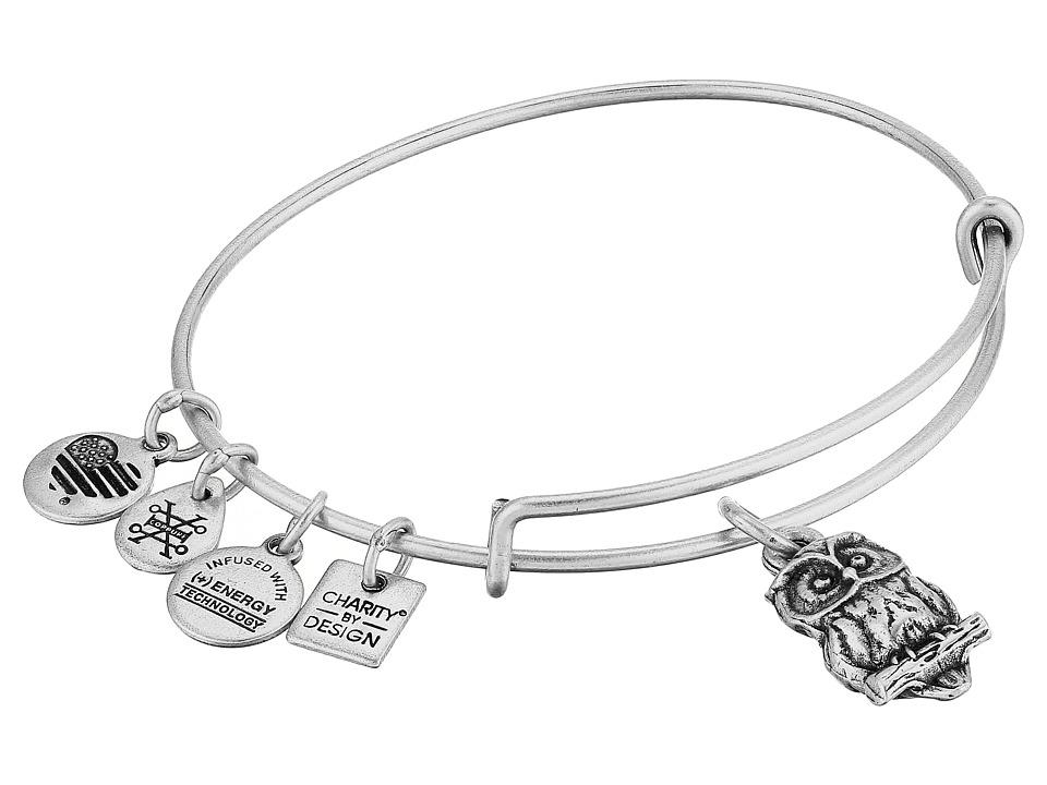 Alex And Ani Charity By Design Owl II Bangle (Rafaelian Silver) Bracelet