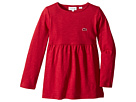 Lacoste Kids Long Sleeve Jersey Tee Shirtdress (Toddler/Little Kids/Big Kids)