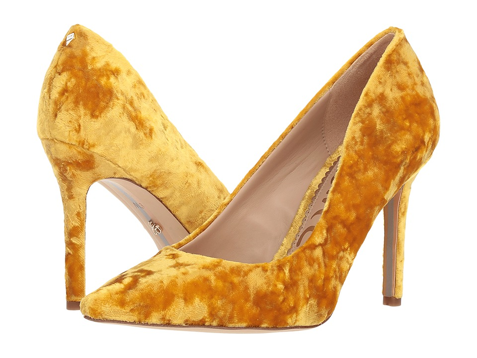 Sam Edelman Hazel (Tuscan Yellow Lux Crushed Velvet) Women's Shoes