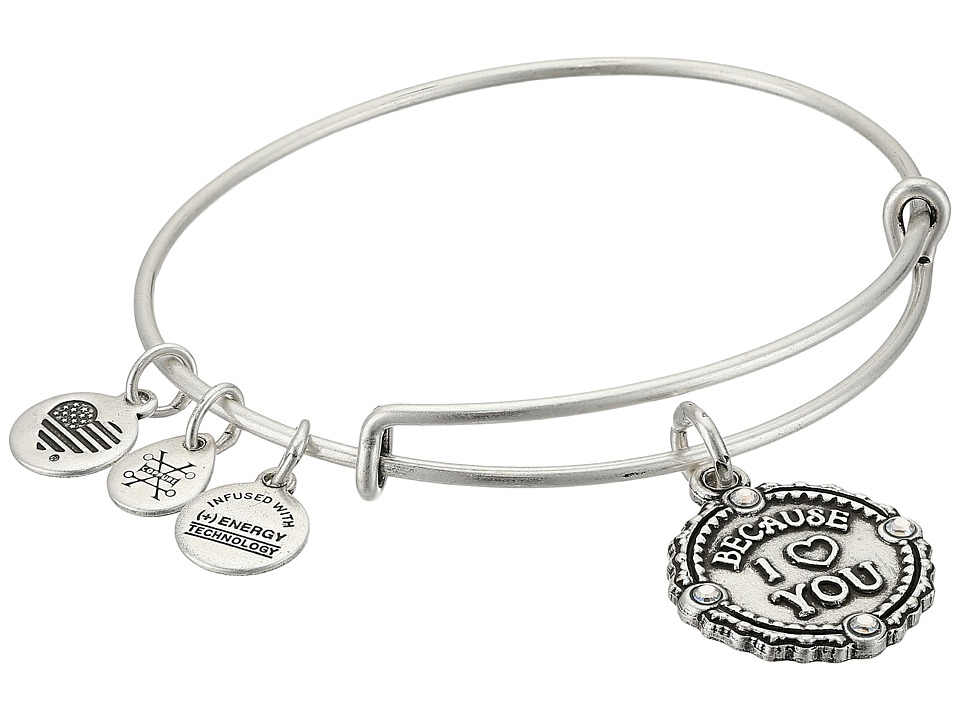 Alex and Ani - Because I Love You III Bangle (Rafaelian Silver) Bracelet
