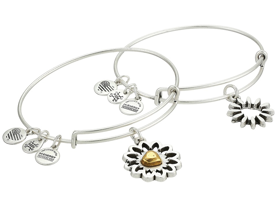 Alex and Ani - You Are My Heart Two-Tone Bracelet Set of 2 (Rafaelian Silver) Bracelet