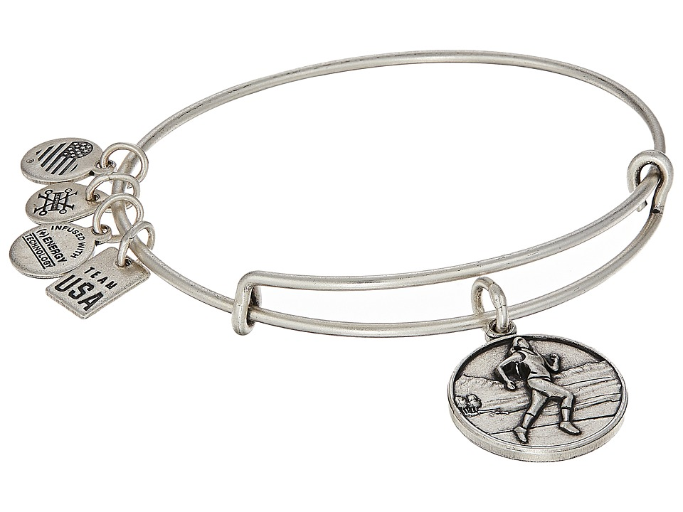 Alex and Ani - USOC Track and Field II Bangle (Rafaelian Silver) Bracelet