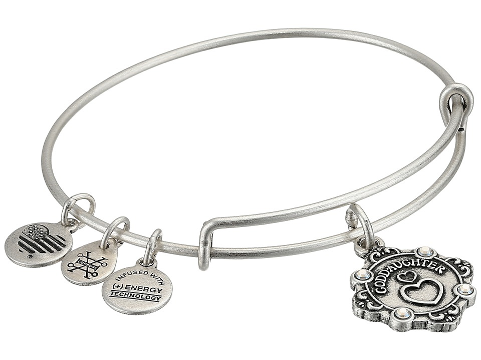 Alex and Ani - Because I Love You Goddaughter II Bangle (Rafaelian Silver) Bracelet
