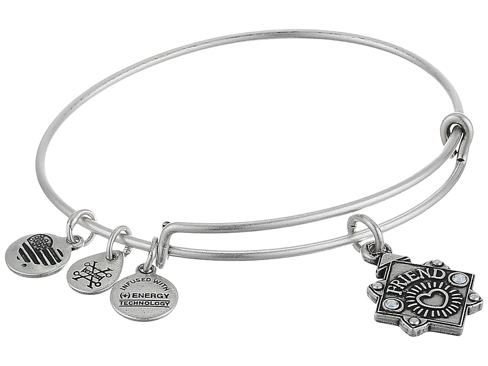 Alex and Ani - Because I Love You Friend III Bangle (Rafaelian Silver) Bracelet
