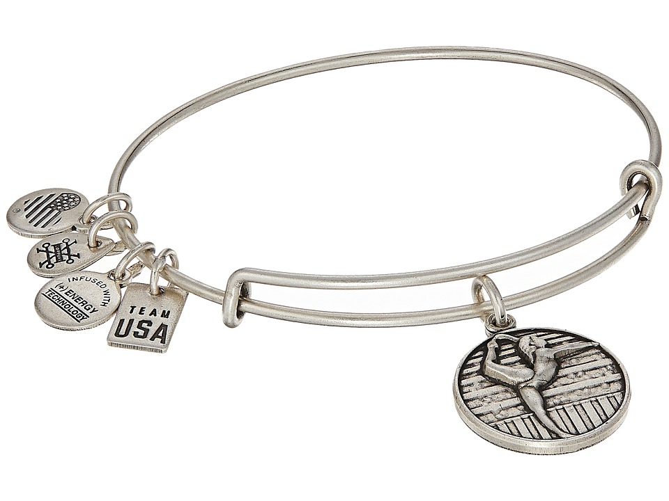 Alex and Ani - USOC Gymnastics II Bangle (Rafaelian Silver) Bracelet