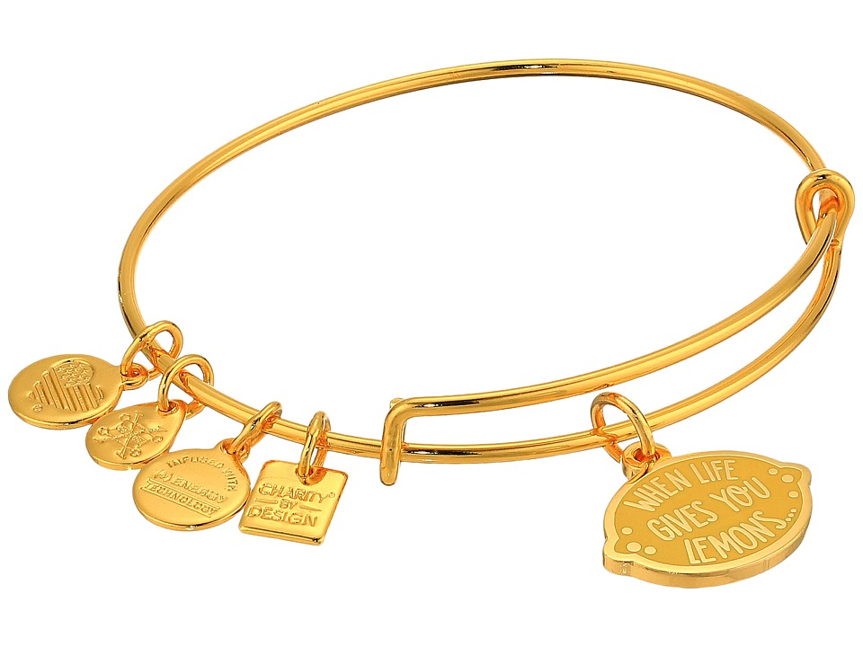 Alex and Ani - Charity By Design When Life Gives You Lemons Bangle (Shiny Gold) Bracelet