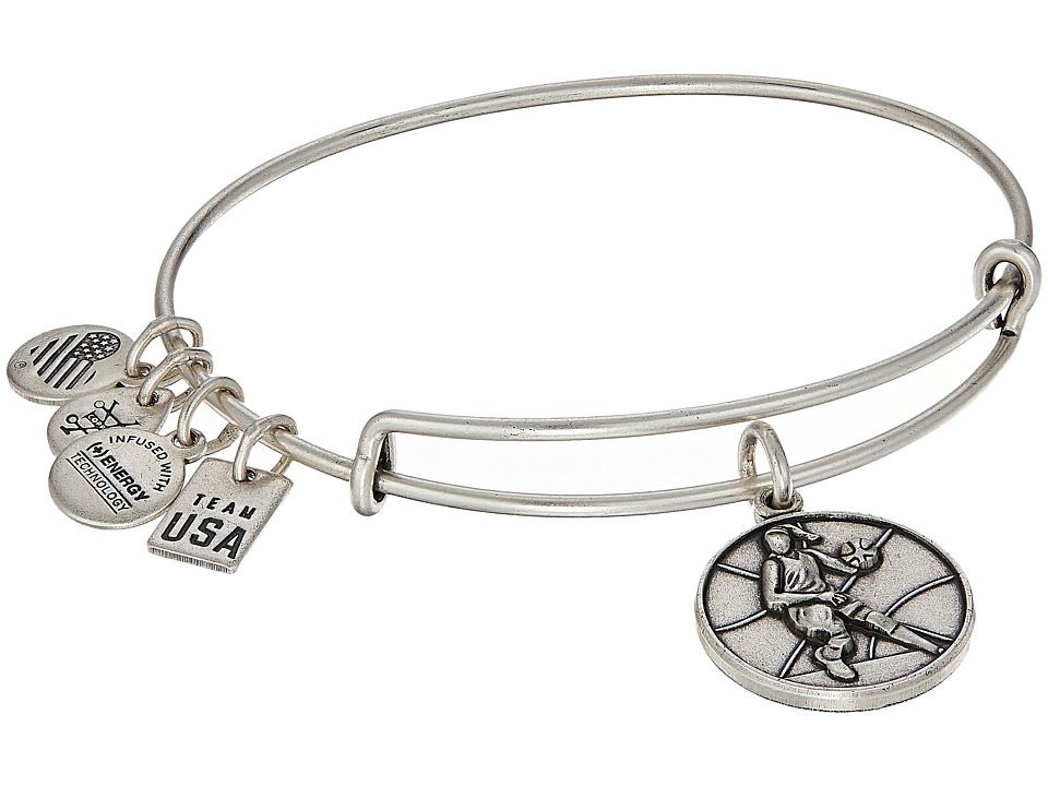 Alex and Ani - USOC Basketball II Bangle (Rafaelian Silver) Bracelet