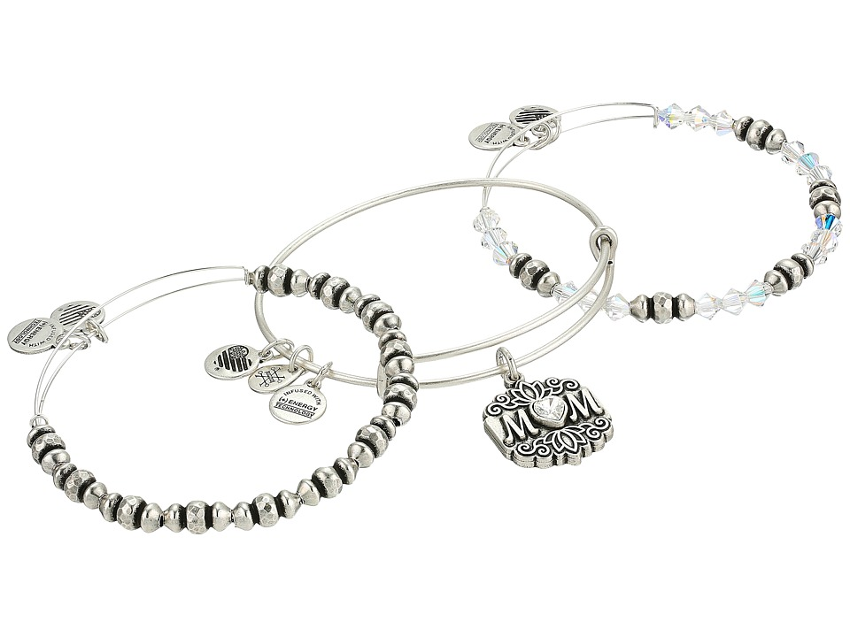 Alex and Ani - Mom Bracelet Set of 3 (Rafaelian Silver) Bracelet