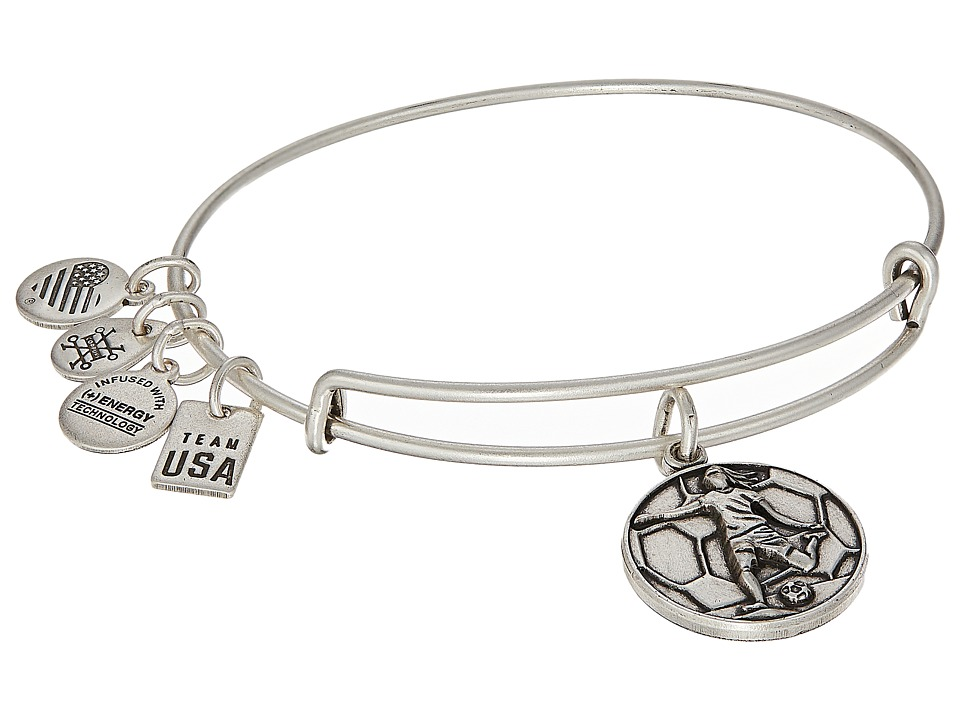 Alex and Ani - USOC Soccer II Bangle (Rafaelian Silver) Bracelet