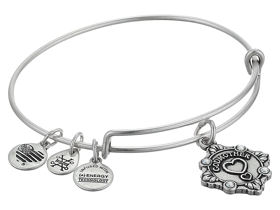Alex and Ani - Because I Love You Godmother III Bangle (Rafaelian Silver) Bracelet