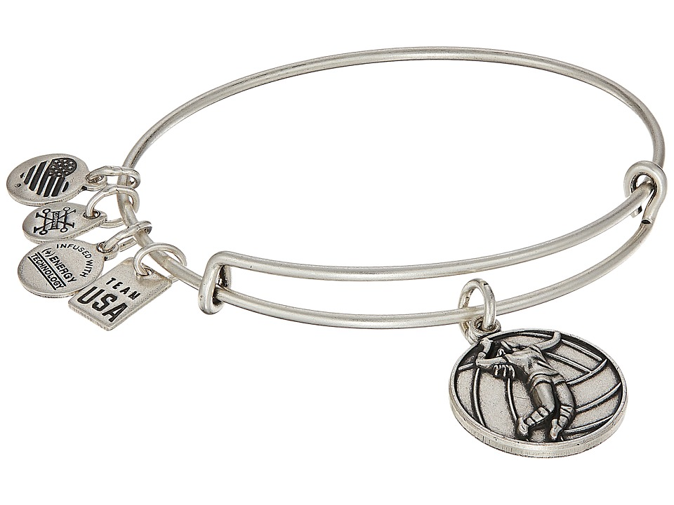 Alex and Ani - USOC Volleyball II Bangle (Rafaelian Silver) Bracelet