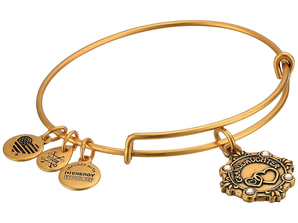 Alex and Ani - Because I Love You Granddaughter III Bangle (Rafealian Gold) Bracelet