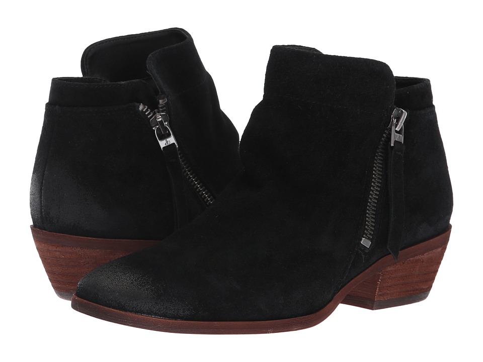 Sam Edelman Packer (Black Velutto Suede Leather)