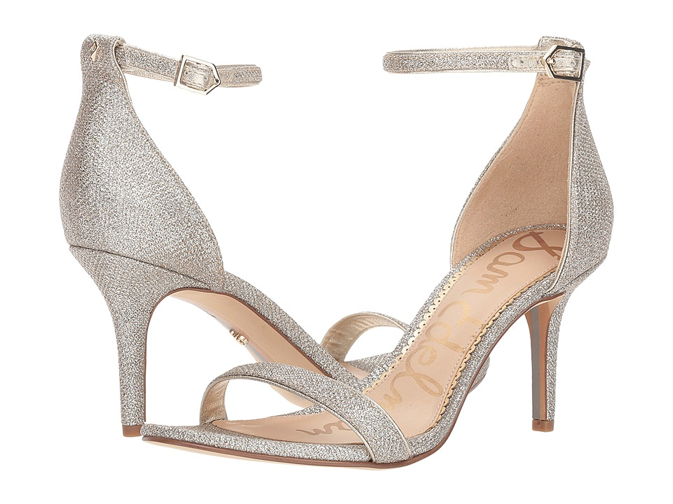 Sam Edelman Patti Strappy Sandal Heel (Light Gold Mesh) High Heels