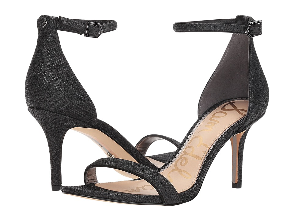 Sam Edelman Patti Strappy Sandal Heel (Black Glam Mesh) High Heels
