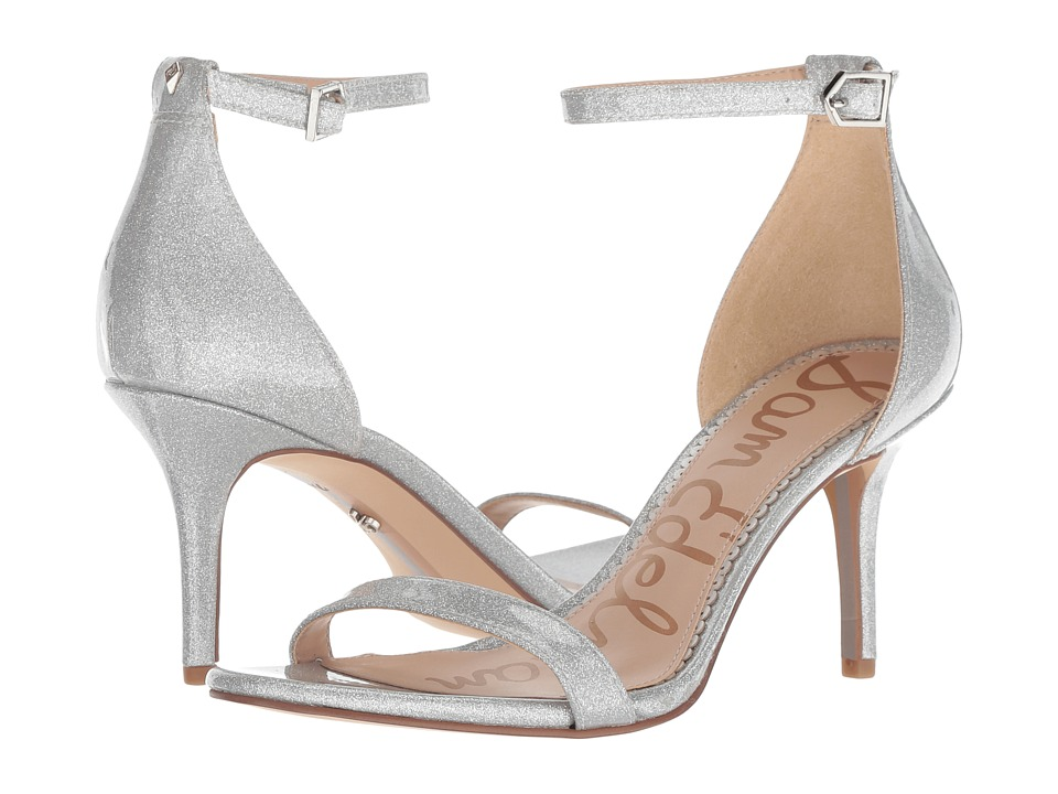 Sam Edelman Patti Strappy Sandal Heel (Argento Glitter Patent) High Heels