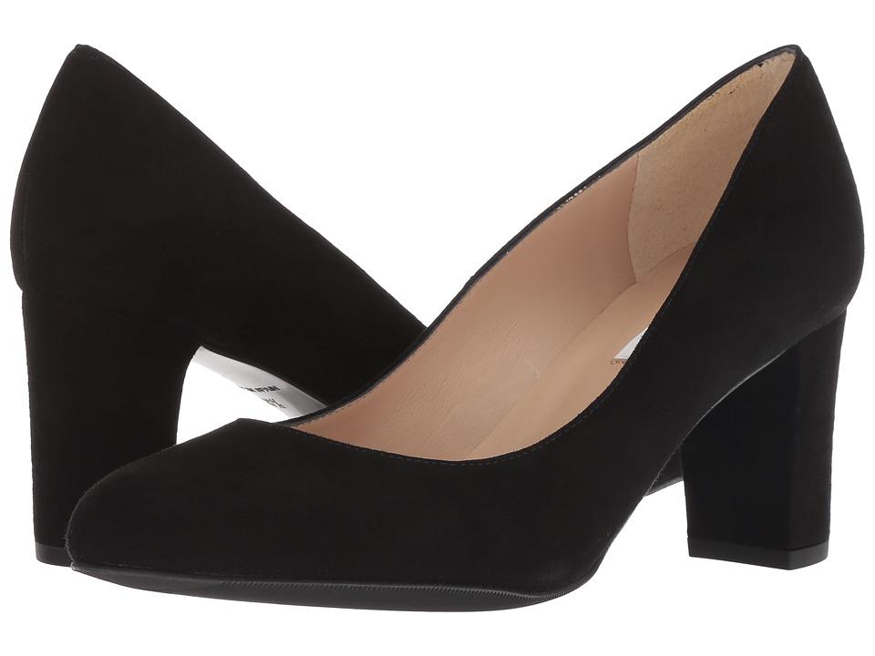 L.K. Bennett Sersha Wide (Black Suede) Women's Shoes