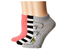 Kate Spade New York A Buzz 3-Pack No Show Socks