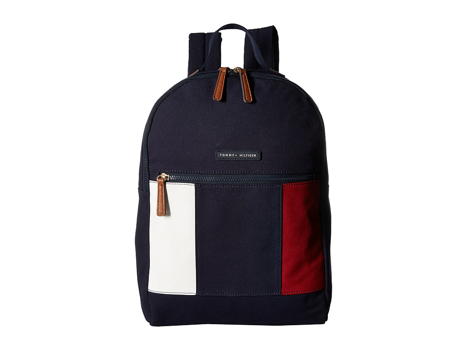 Tommy Hilfiger - TH Flag Canvas Backpack (Navy) Backpack Bags