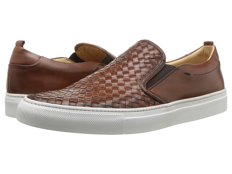 Kenneth Cole New York - Grifyn Sneaker (Cognac) Mens Slip on  Shoes