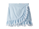 Blank NYC Kids Ruffle Belted Skirt in Cloud Clover (Big Kids)