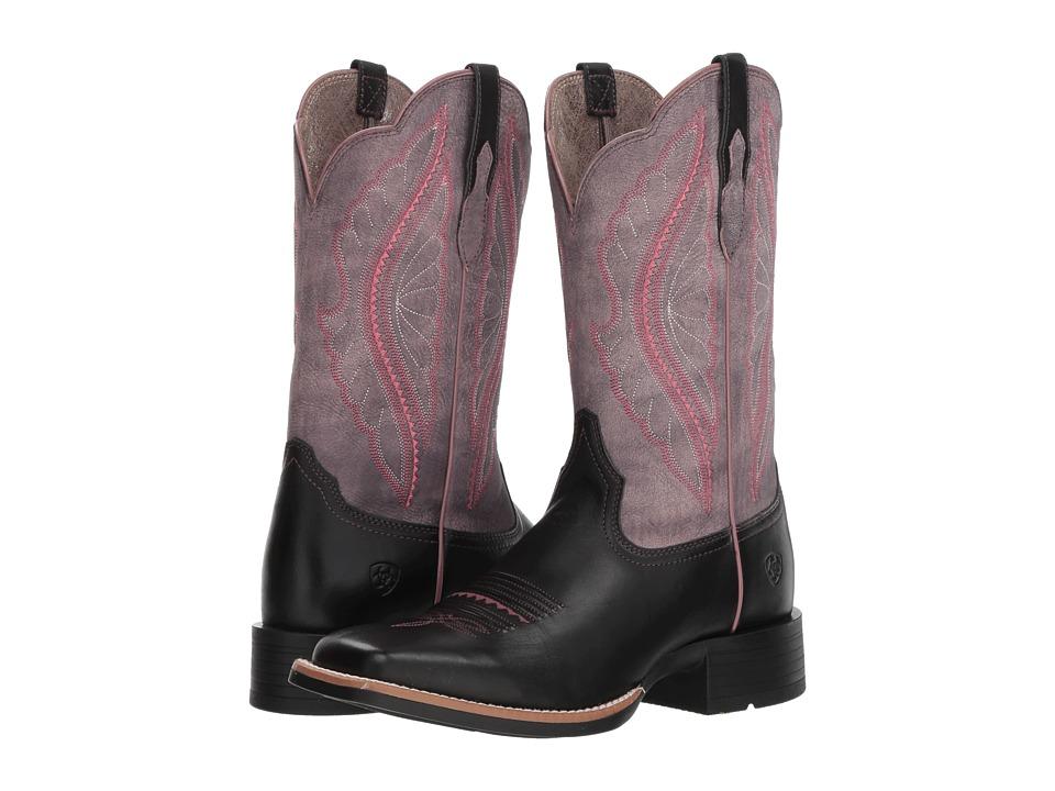 Ariat Primetime (Limousine Black/Black Rose) Women's Cowboy Boots