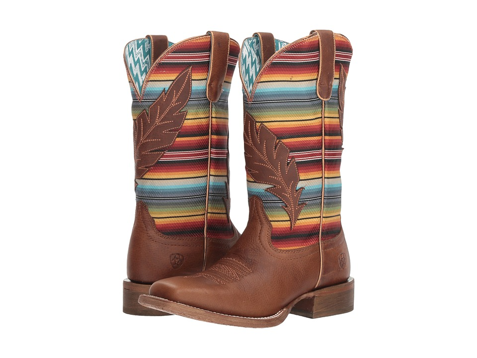Ariat Circuit Feather (Autumn Tan/Old Serape Print) Cowboy Boots