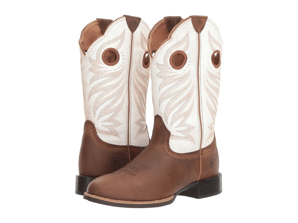 Ariat Round Up Stockman (Crushed Peanut/Birch) Cowboy Boots