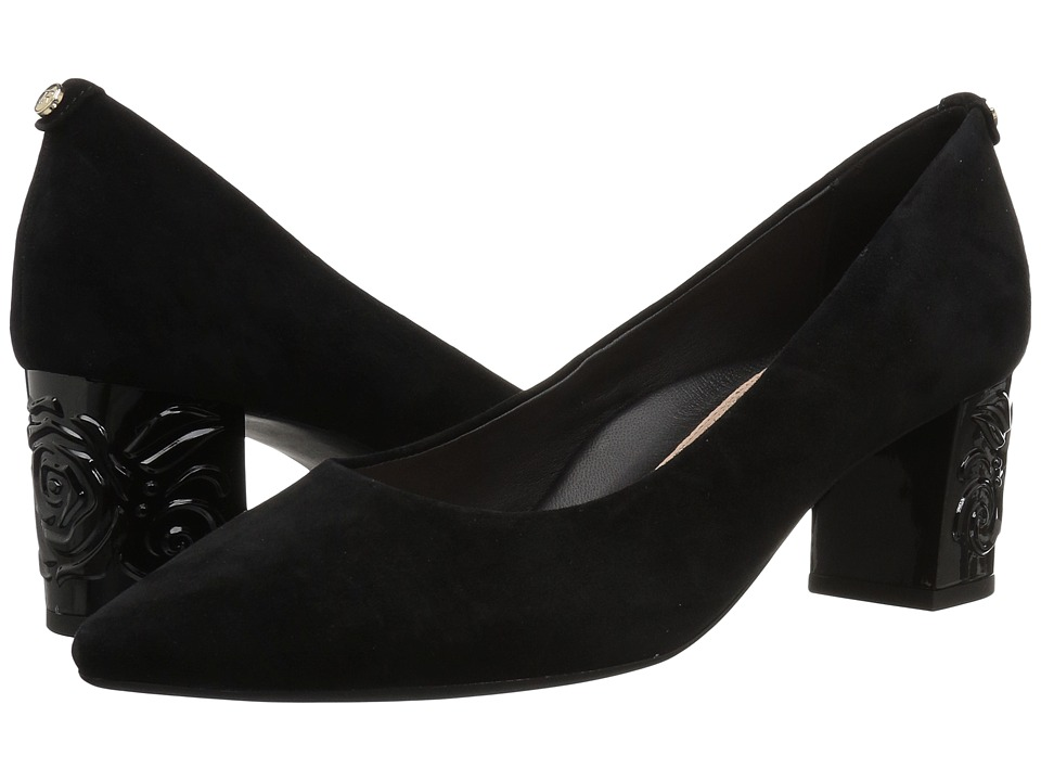 Taryn Rose Marigold (Black Silky Suede) Women's Shoes