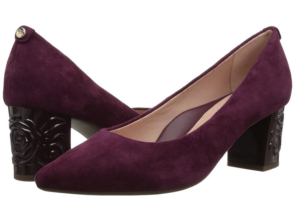Taryn Rose Marigold (Fig Silky Suede) Women's Shoes