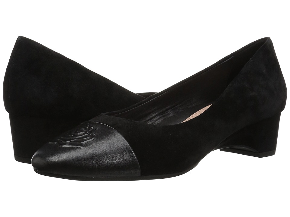 Taryn Rose Babe (Black Metallic/Silky Suede) Women's Dress Flat Shoes