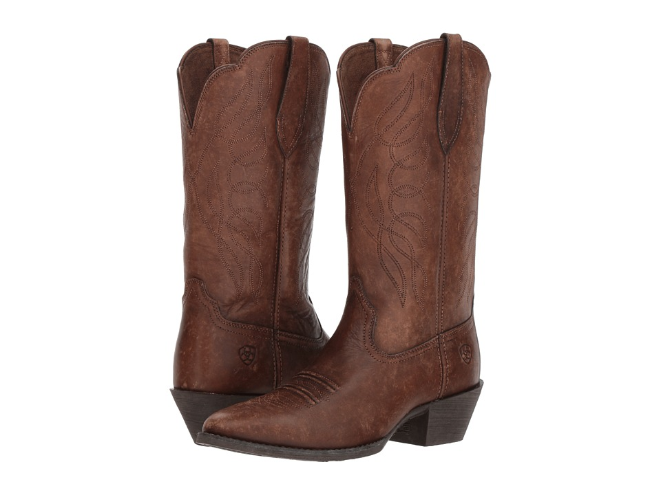 Ariat Heritage Western R Toe (Naturally Distressed Brown)