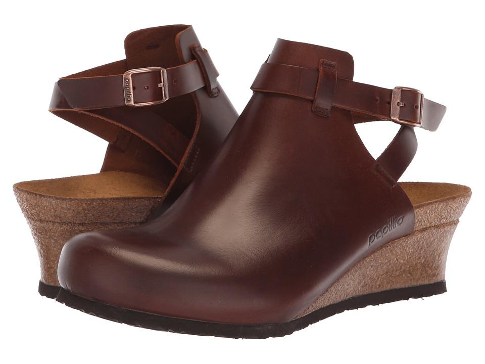 Birkenstock Esra (Cognac Leather) Wedges